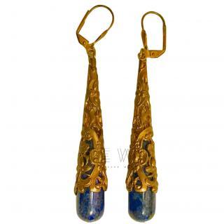 Bespoke Lapis Lazuli Gold Plated Earrings