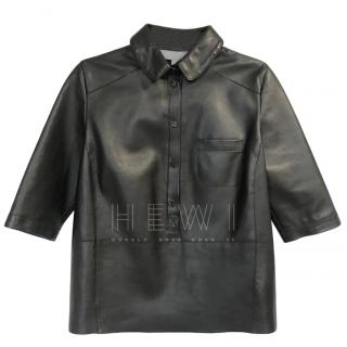 Mulberry nappa leather black shirt