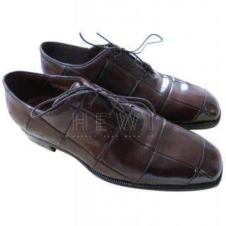 Silvano Lattanzi Bespoke Brown Leather Oxfords