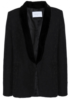 Sandro Velvet Trim Lace Jacket
