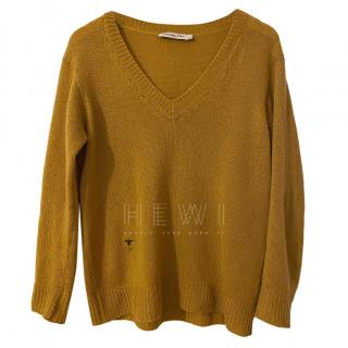 Dior Mustard Yellow Cashmere Knit Jumper