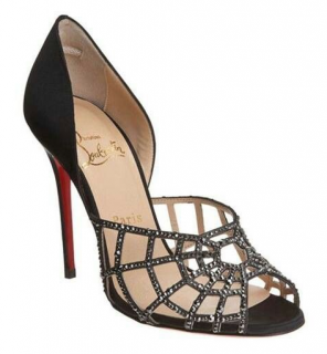 Christian Louboutin Aranea Silk Web Sandals