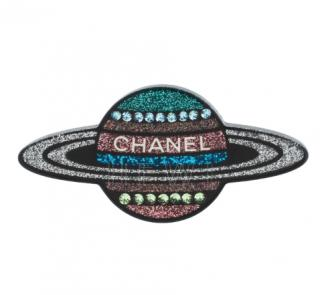 Chanel Crystal & Resin Planet Brooch Pin