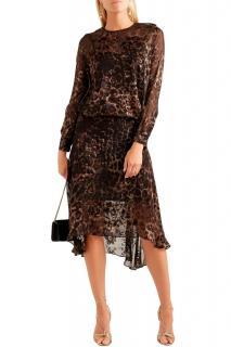 Preen by Thornton Bregazzi Andrea leopard-print devore midi dress