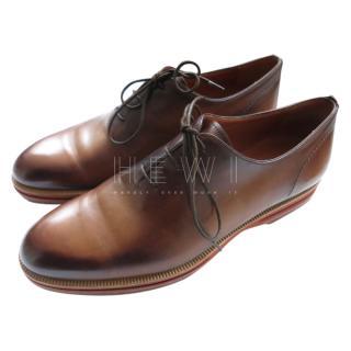 Berluti Whiskey Brown Leather Derbies