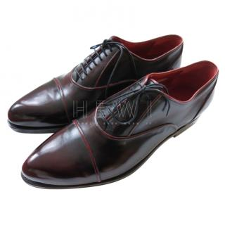 Silvano Lattanzi Oxblood Leather Derbies