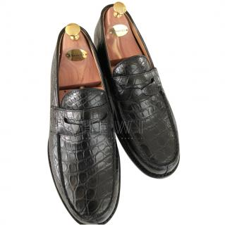 Church's Black Crocodile Loafers