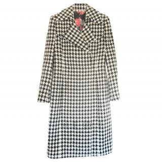 Michele Miglioni Couture Houndstooth Vintage Coat