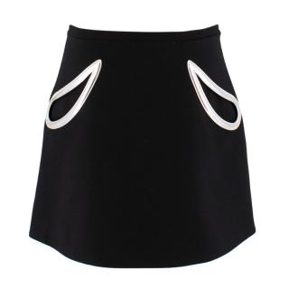 christoper Kane black skirt with silver pocket
