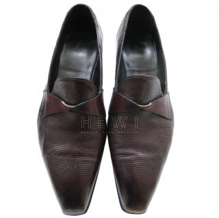 Gaziano Girling Bespoke Lizard Loafers