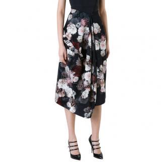 Preen by Thornton Bregazzi Floral Print Velvet Skirt