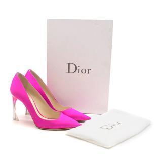 Dior Neon Pink Perpex Pumps