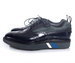 Prada microsole patent leather lace-up derbies