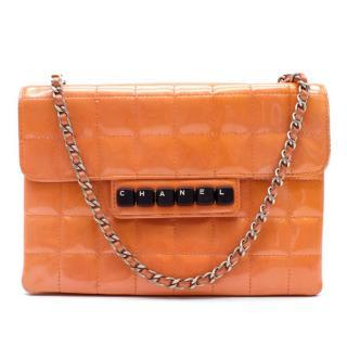 Chanel Orange Keyboard Chocolate Bar Flap