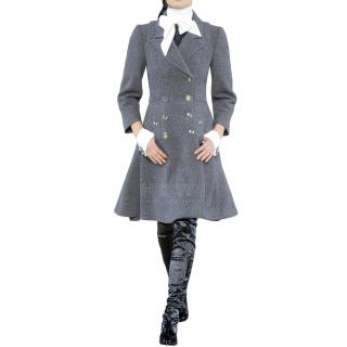 Chanel Runway Grey Wool & Cashmere Coat