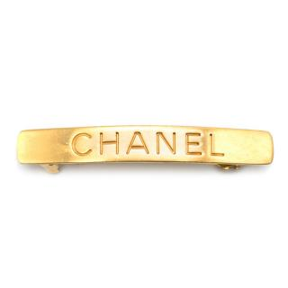 Chanel Gold Logo Hair Clip