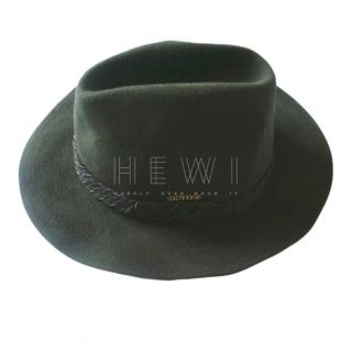 Mathias Hutter Khaki Olive Green Wool Felt Men's Hat