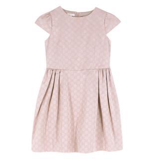 Gucci Girls 8 Years Pink Monogram Dress