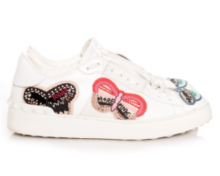 Valentino Butterfly Embellished Sneakers
