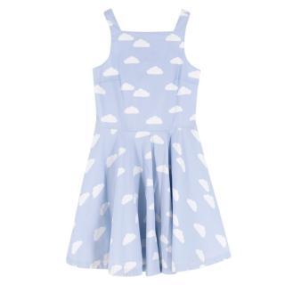 Jacardi Girls Blue Cloud Print Sundress