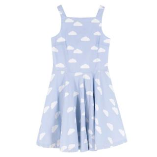 Jacardi Girls Blue Cloud Print Sundress