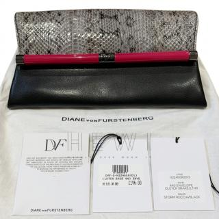 DVF Snakeksin Embossed 440 clutch