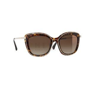 Chanel Tortoiseshell Butterfly Sunglasses