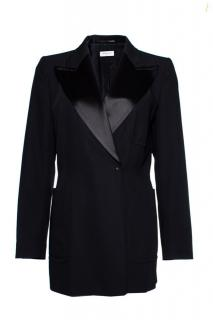 Dries Van Noten Black Wool Jacket W/Satin Lapels