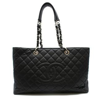 Chanel Black Quilted Leather Grand Shopping Tote