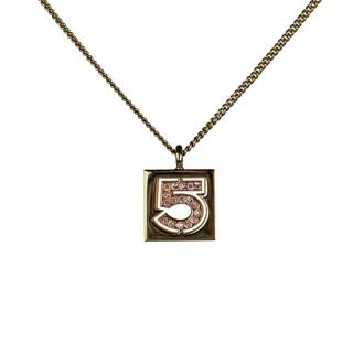 Chanel Number 5 Rhinestone Necklace