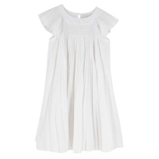 Jacadi white pleated dress