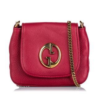 Gucci Leather 1973 Crossbody Bag