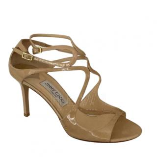 Jimmy Choo Nude Strappy Leather Sandals