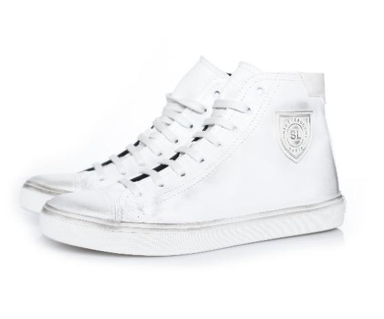 Saint Laurent Men's Bedford leather high-top sneakers