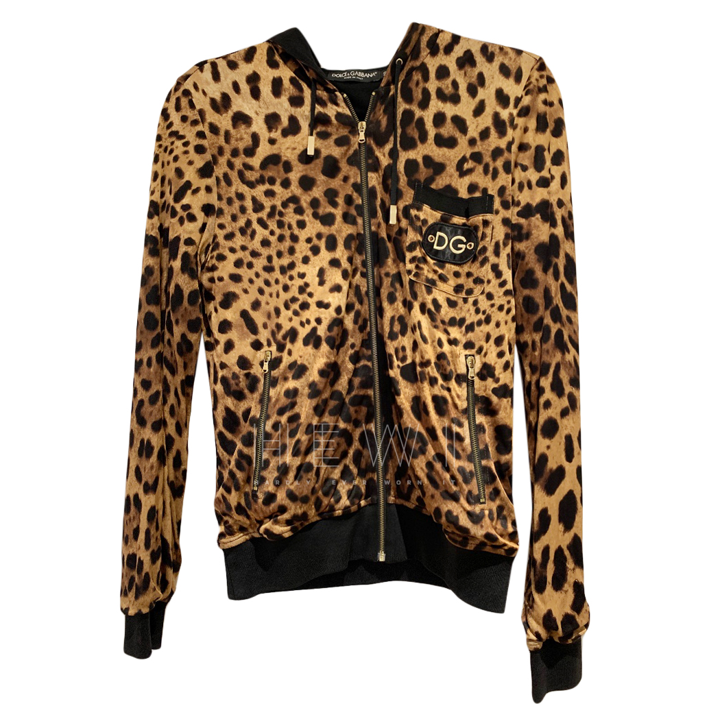 Dolce & Gabbana Leopard Print Hoodie