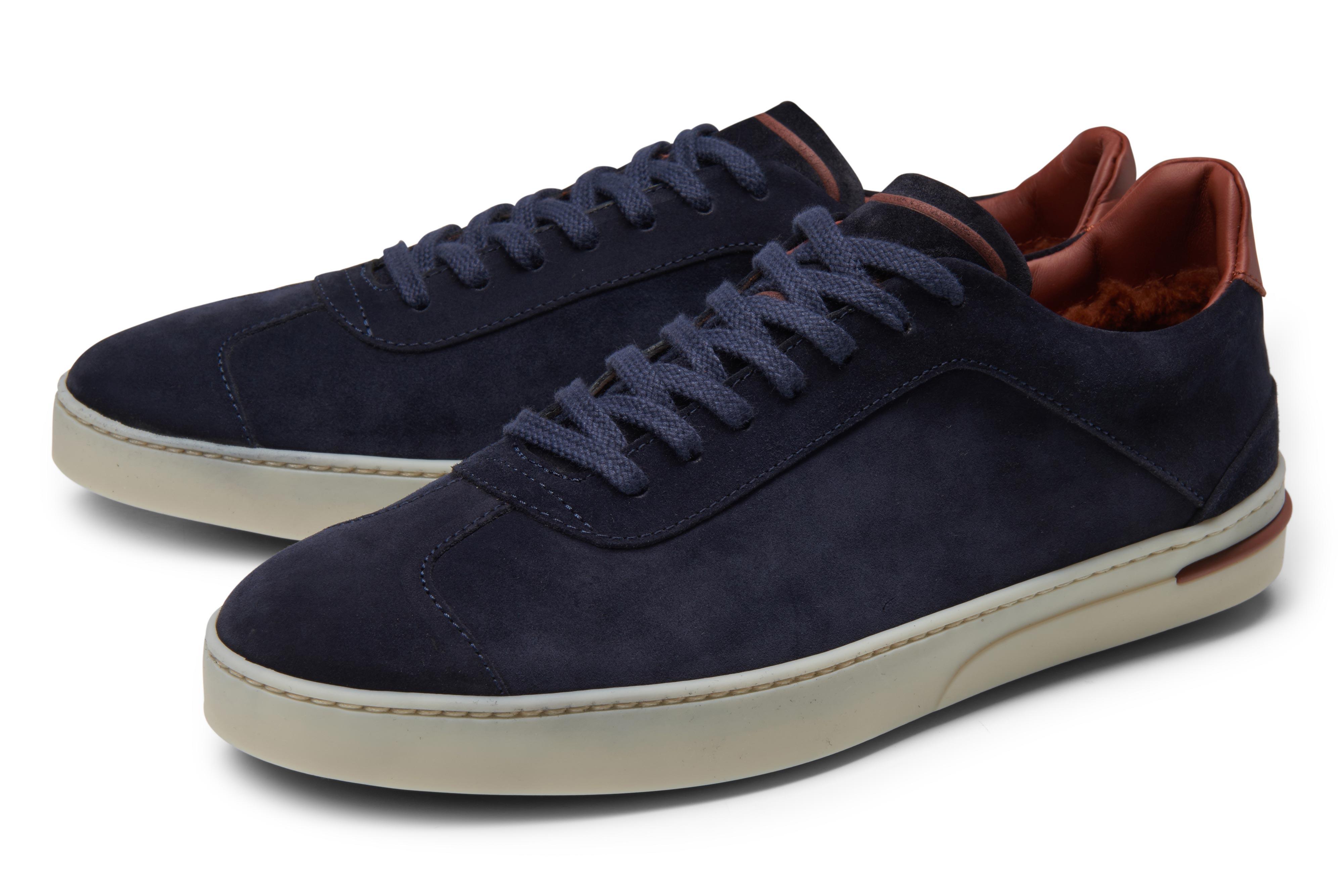 Loro Piana '70'S Walk' navy sneakers