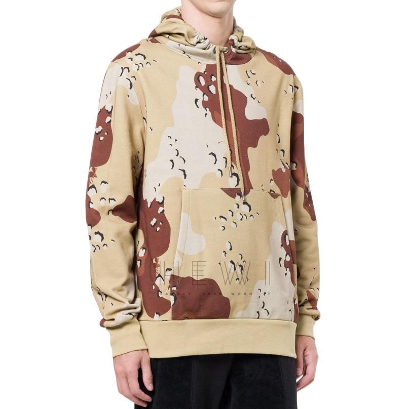 Raeburn jersey choc chip print hoodie