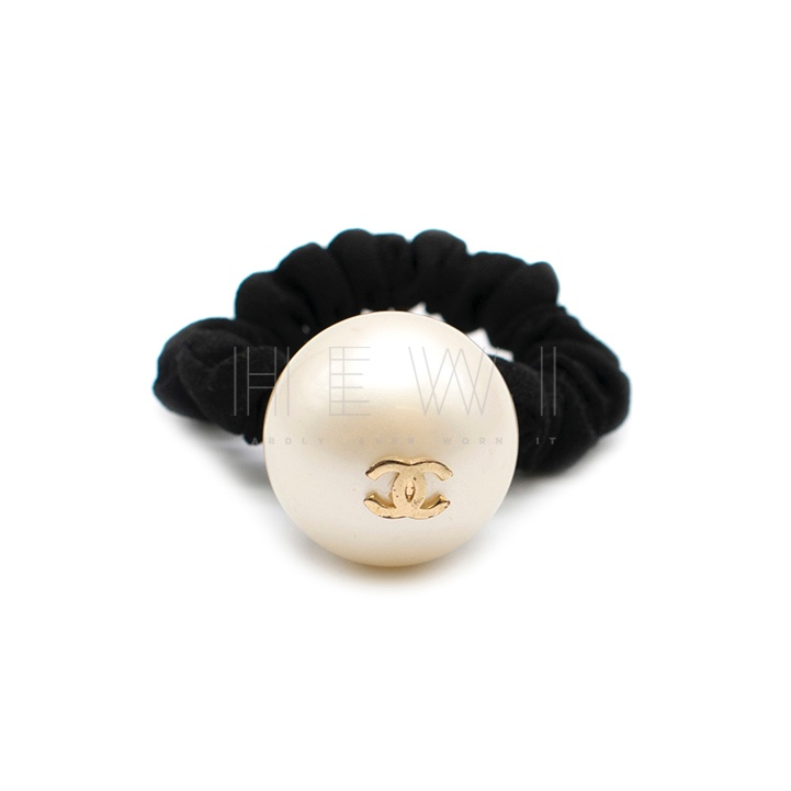 Chanel Faux Pearl Hair Scrunchie