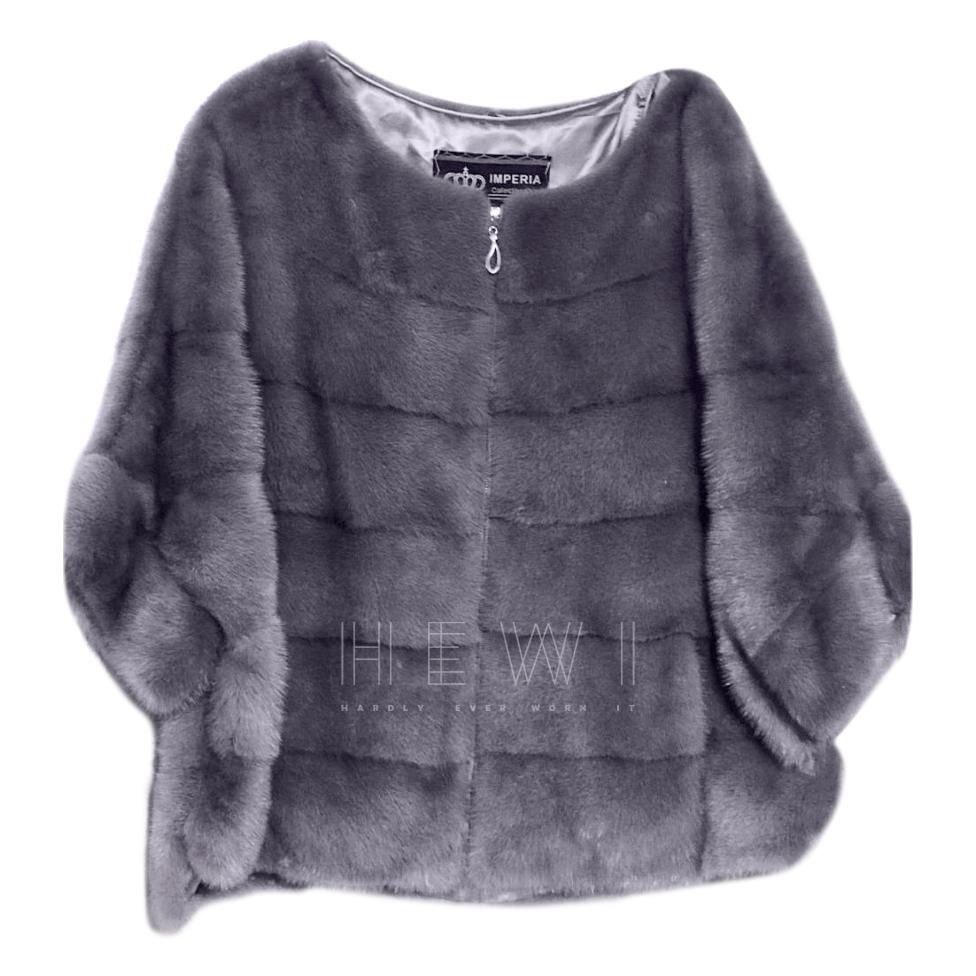 Imperia Violet Mink Fur Jacket