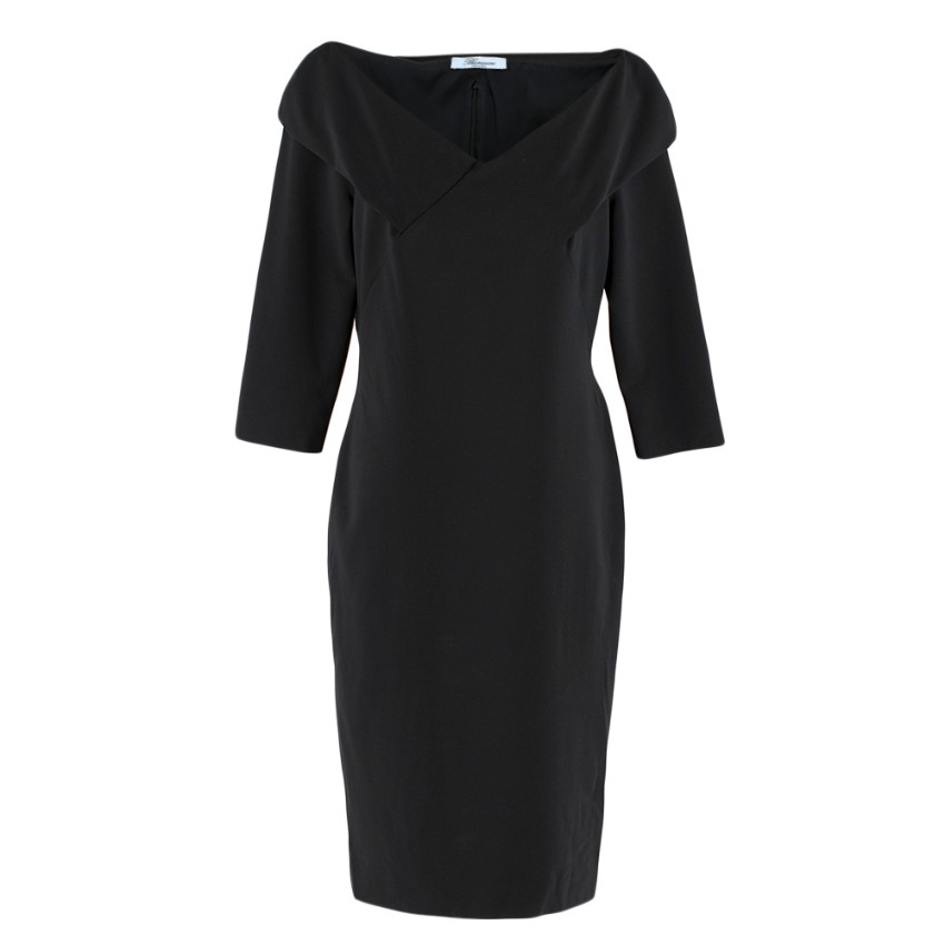 Blumarine Black Fitted Dress