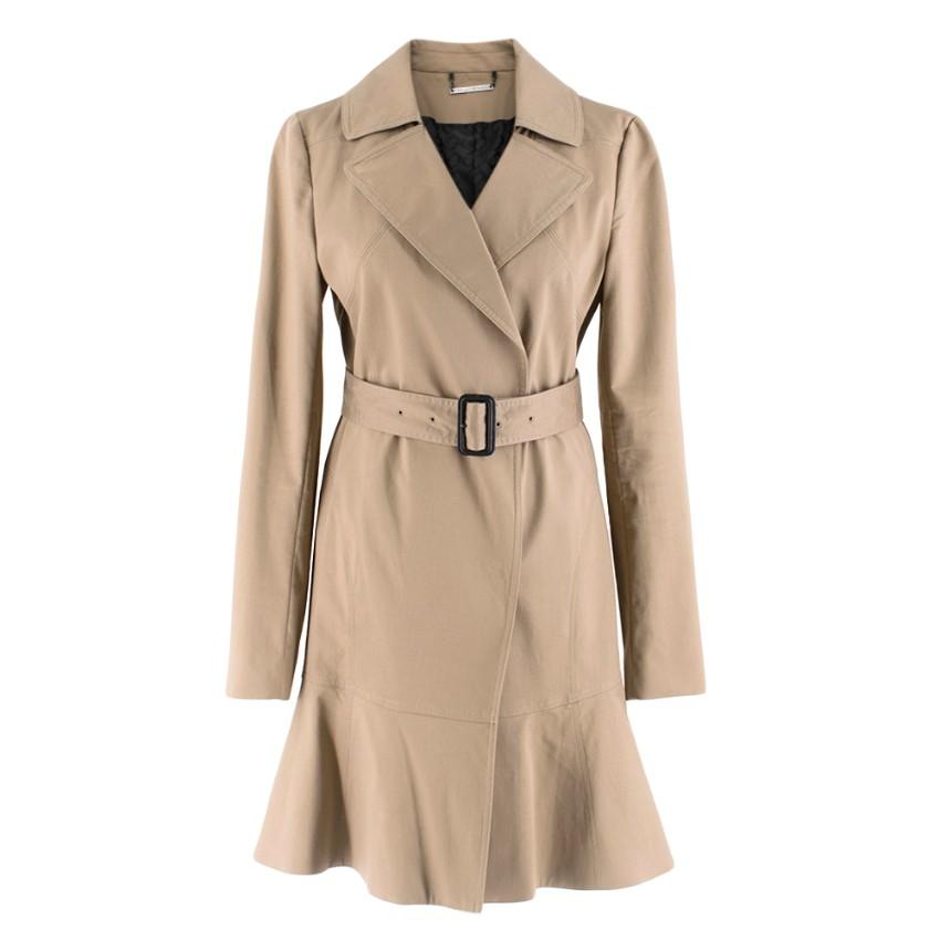 Diane Von Furstenberg camel cotton trench coat