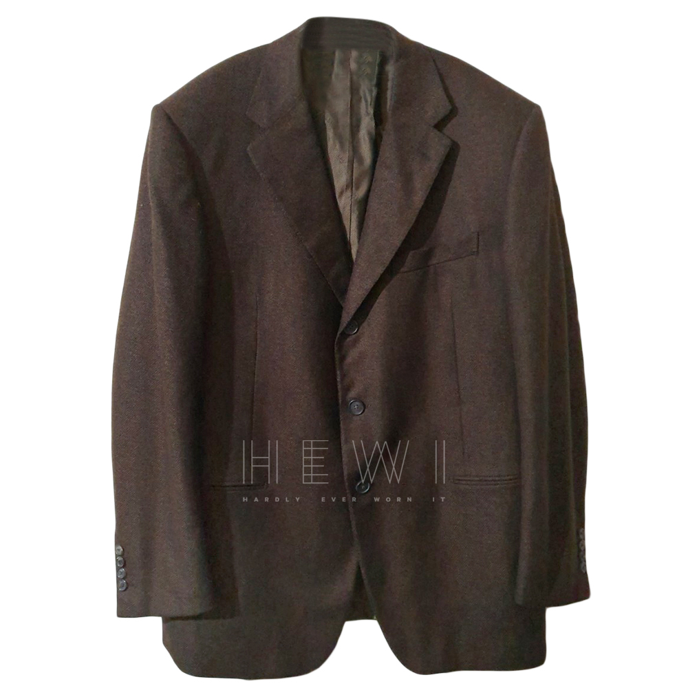 Gianfranco Ferre brown cashmere blazer