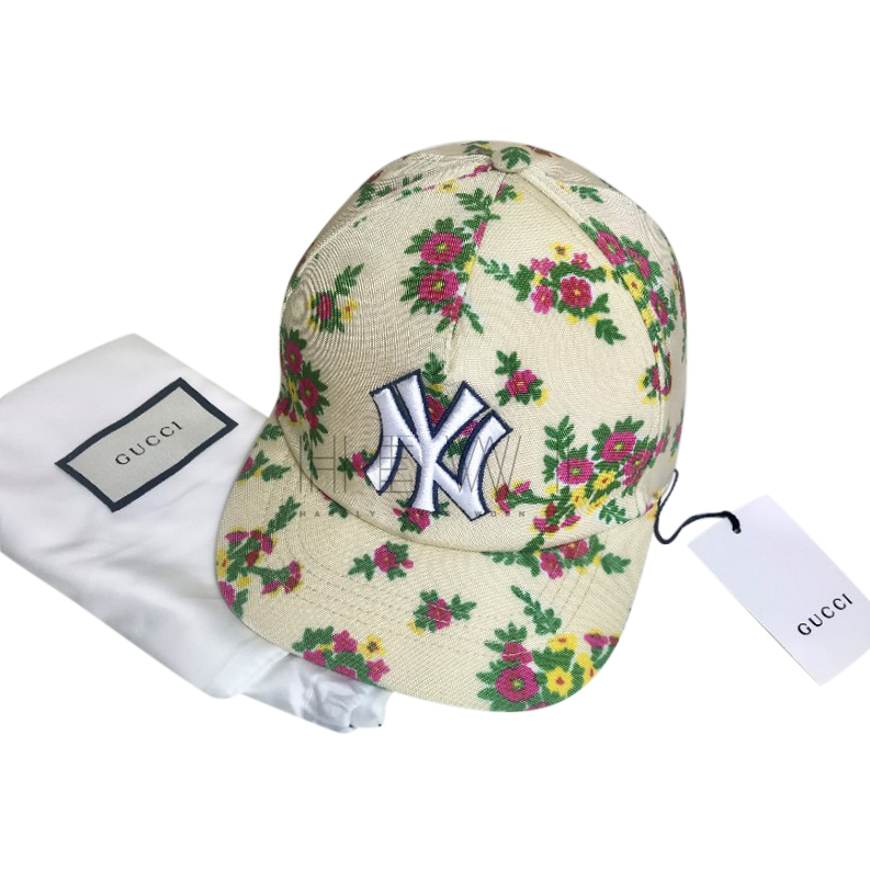 Gucci NY Yankees Floral Baseball Cap - New Season