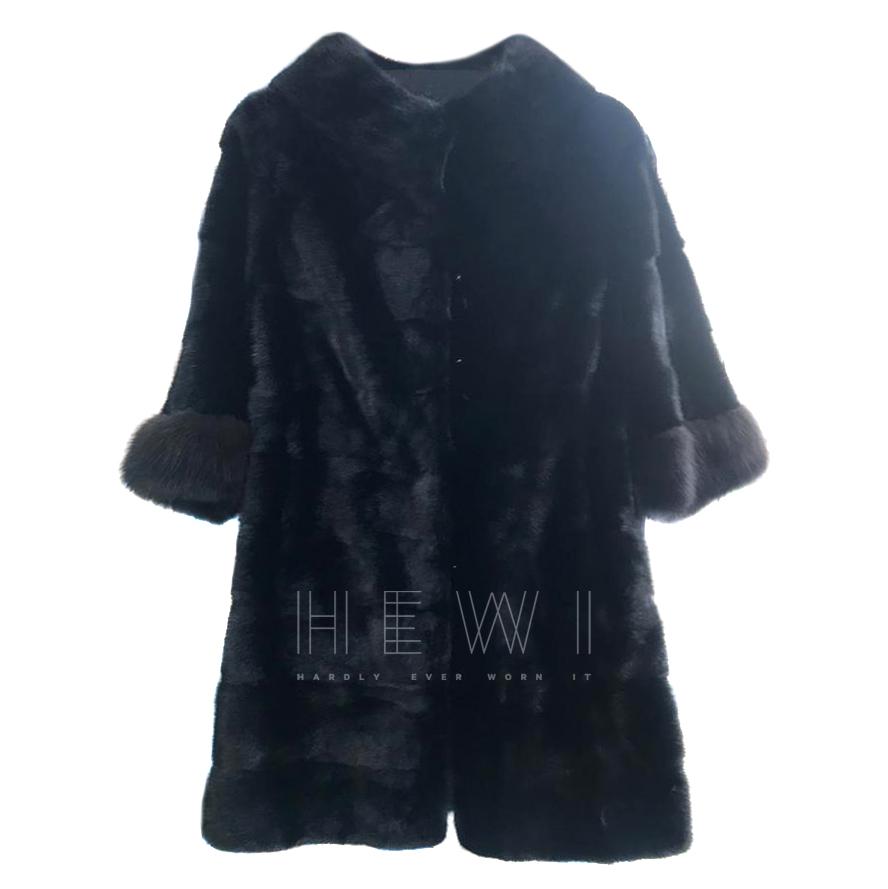 Rosestart Mink Fur Coat W/ Fox Fur Cuffs