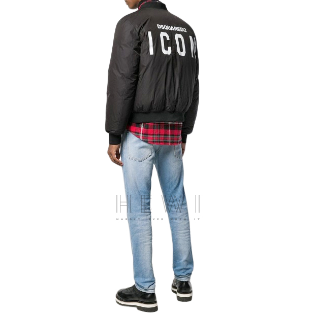DSquared2 Men's Black Icon Bomber Jacket