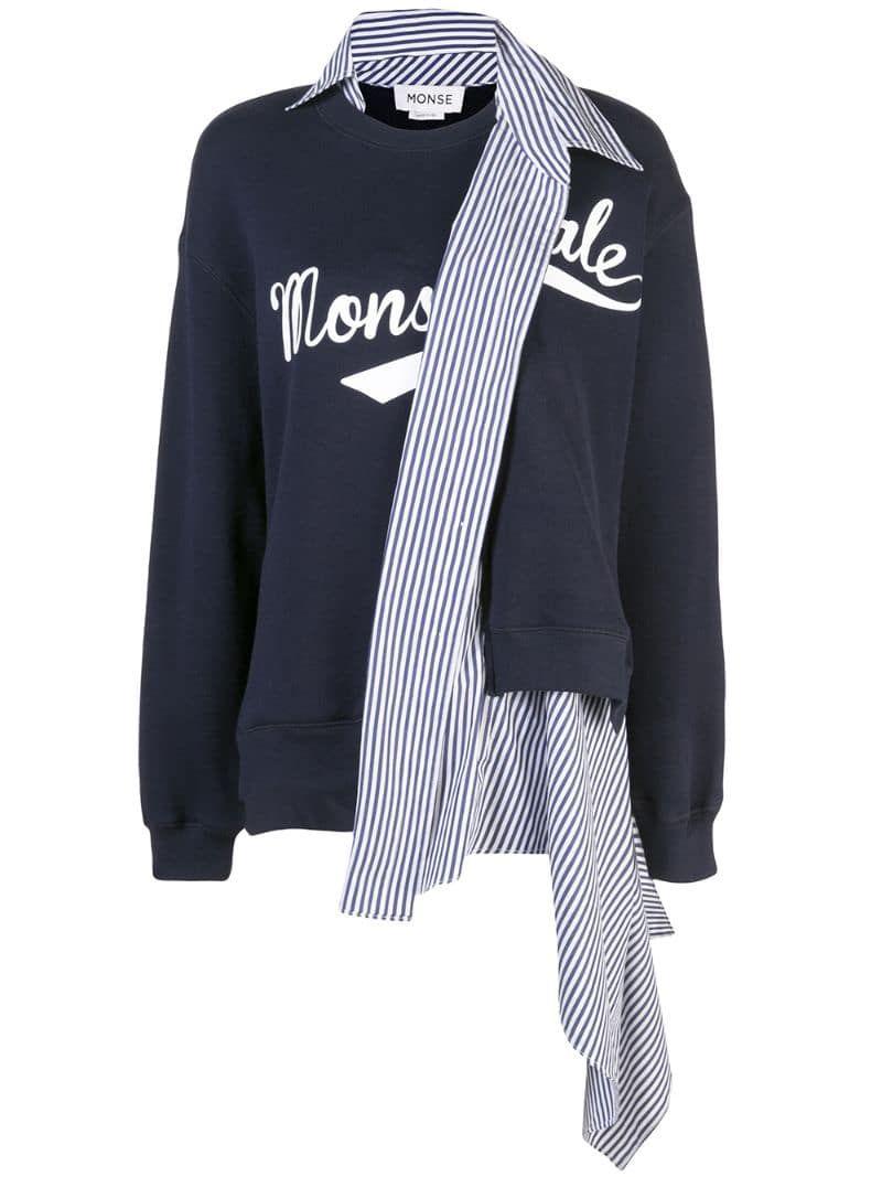 Monse Deconstructed Cashmere Blend Sweatshirt