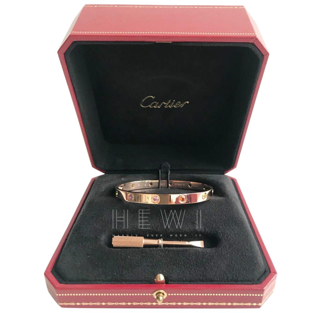 Cartier 18k Rose Gold Rainbow Love Bracelet