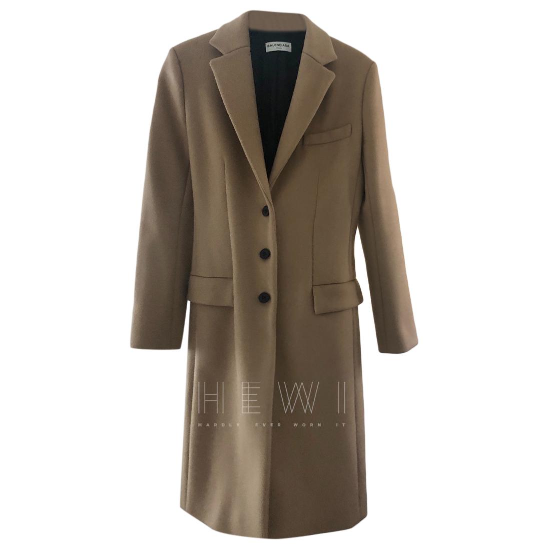 Balenciaga Camel Single Breasted Coat