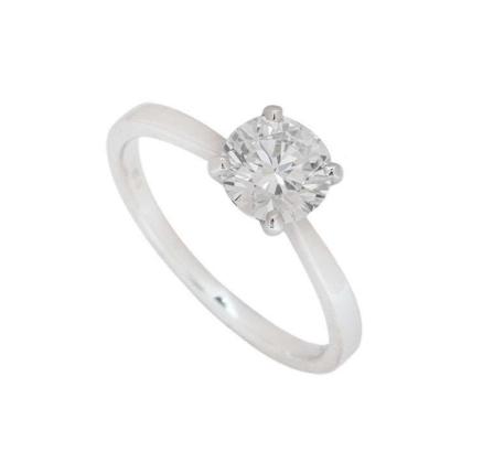 Bespoke White Gold Round Brilliant Cut Diamond Ring