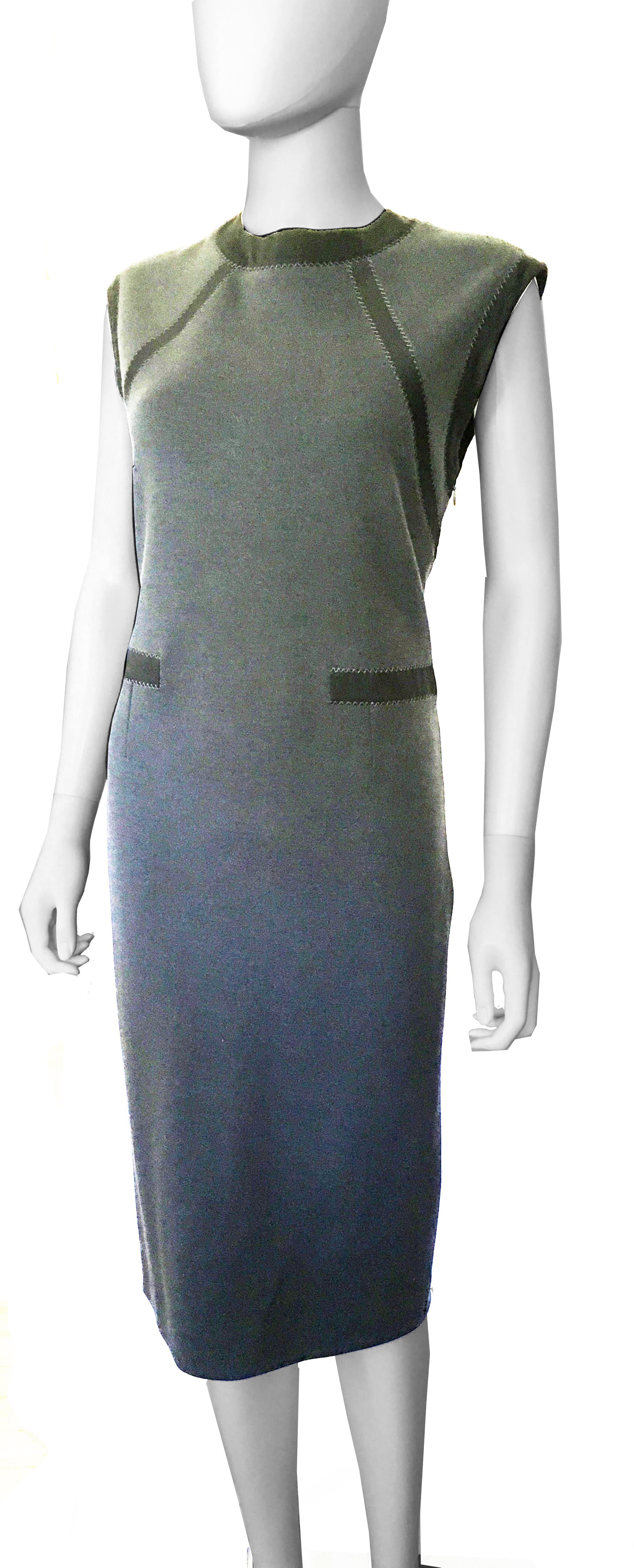 Bottega Veneta Grey Wool Jersey dress